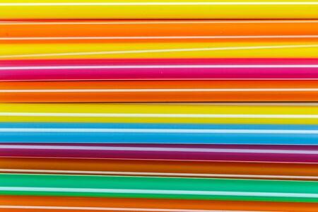 multi color: Closeup Multi Color flexible straws Stock Photo