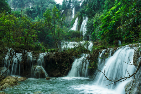 thee: Thi Lo Su Waterfall or Thee Lor Sue in Thailand
