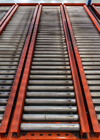 rollers: conveyor rollers in distribution warehouse or storehouse