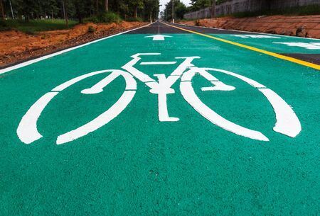lanes: Dedicated bicycle lanes, designed to make cycling safer. Stock Photo