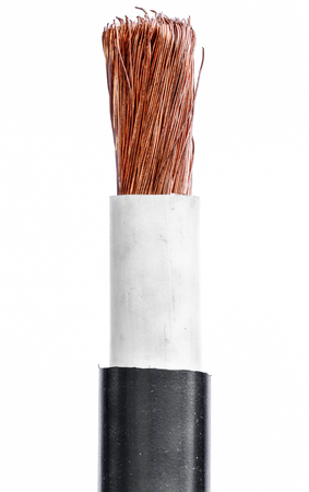 bare wire: Cables bare wires closeup copper wire