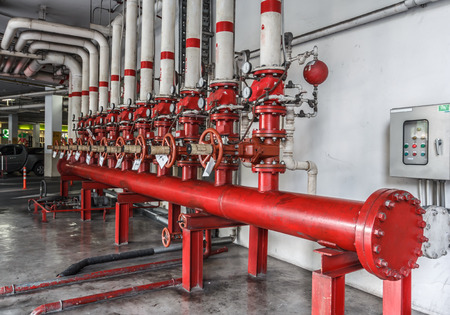 Water sprinkler and fire fighting system 스톡 콘텐츠