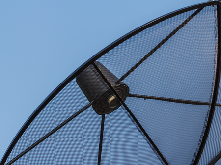 Satellite dish sky sunset communication technology