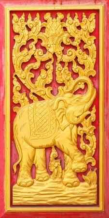 ornate door: Traditional wooden antique ornate door beautiful in Laos
