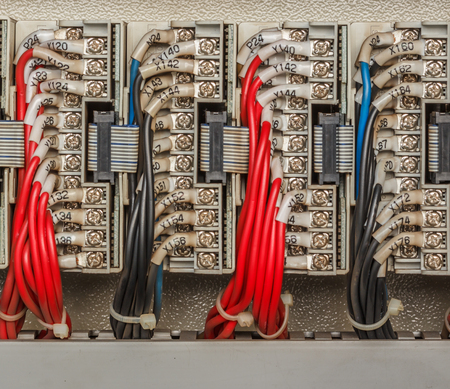 wiring: Wiring - Control panel with wires industry