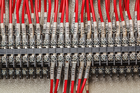Wiring - Control panel with wires industry