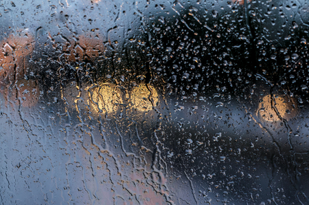 condensation on glass: Close-up of water drops on glass surface as background