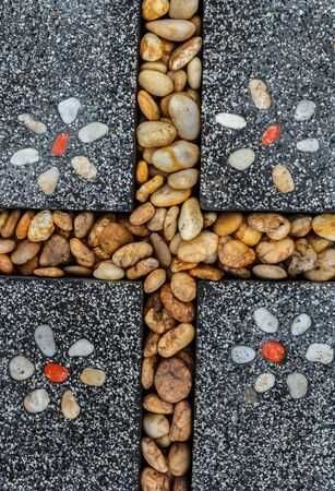 Background from a stone natural stone paving beautiful.