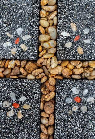 Contexte de la pierre naturelle de pavés belle. Banque d'images
