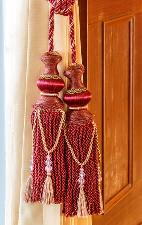 Curtain Tie rope beautiful colors design Stock Photo