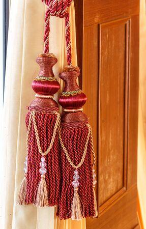 Curtain Tie rope beautiful colors design Stock Photo