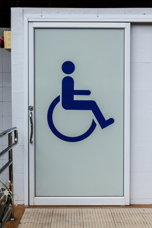 The for bathroom cripple for disabled badge lady