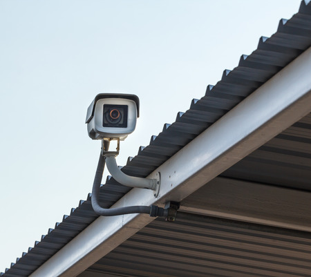 CCTV camera in the car park of the department store.