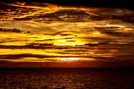 Sunlight in the evening near the beautiful sea. Stock Photo