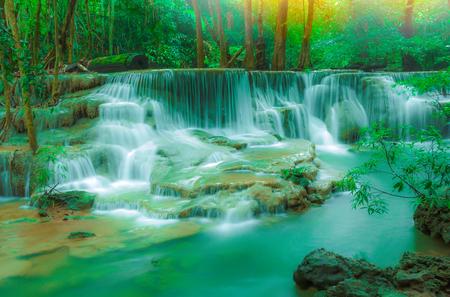 Huai Mae Khamin Waterfall  ( Tier 6  DONG PEE SIA ), Srinakarin Dam National Park