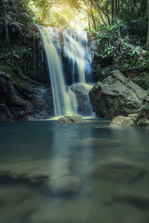 Thi Lo Su Waterfall or Thee Lor Sue in Thailand
