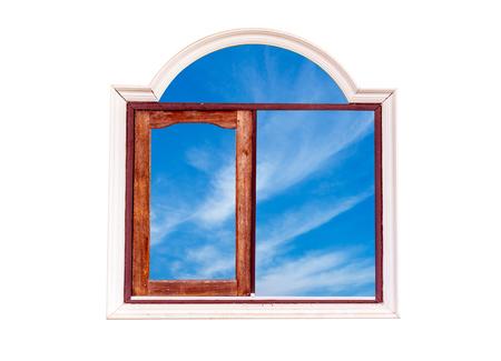 Window and sky.