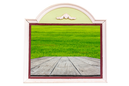 Window with green grass