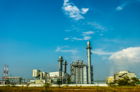 Large Power Plant in Industrial Area Eastern of Thailand