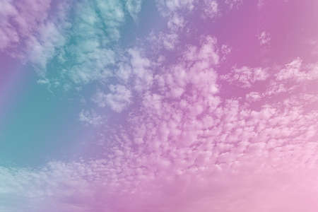 Purple pink morning sky background in pastel vintage watercolor