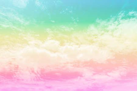 Purple pink morning sky background in pastel vintage watercolor