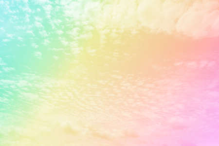 soft cloud with a pastel colored orange to blue pastel and cloud beautiful