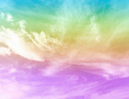 sky pastel and cloud background with colored