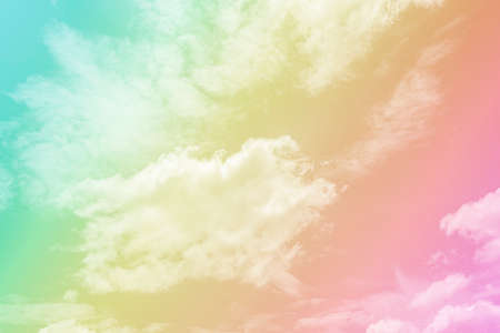 Abstract pastel style, soft cloud with a pastel colored pink Banque d'images
