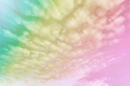 Abstract pastel style, soft cloud with a pastel colored orange