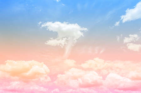 sky pastel and cloud background with beautiful colored