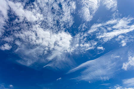 white clouds on the blue background beautiful