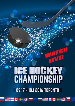 padding: Ice explosion, abstract background. Board Empty Field Background Championship Toronto. Vertical poster. Illustration