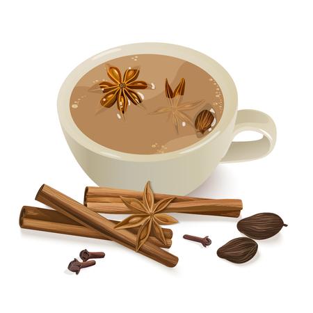 Spiced Tea. 向量圖像