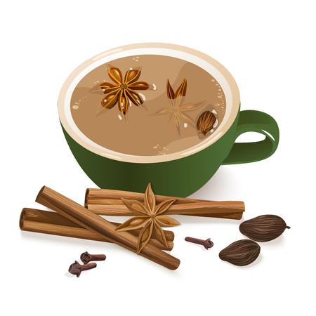 Spiced Tea. Illustration
