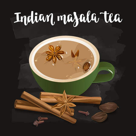 chai: Indian Masala Tea.