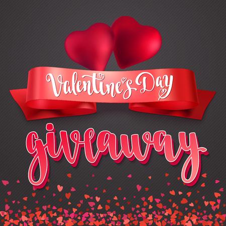 Valentines Day Giveaway. Stock Illustratie