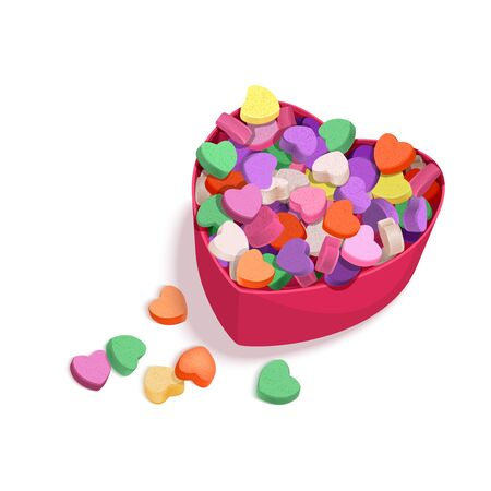 Colorful Hearts Candy for Valentines Day for posters, cards or leaflet.