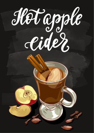 Gorący cydr jabłkowy.