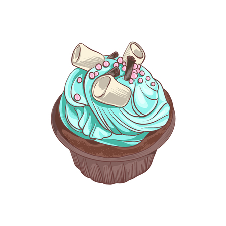 chocolate swirl: Delicious cupcake.