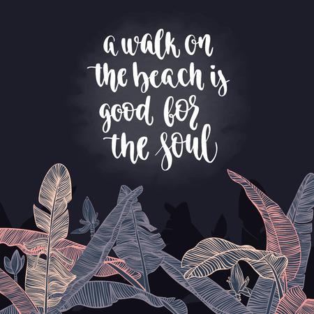inspiration: Travel inspiration quote. Illustration