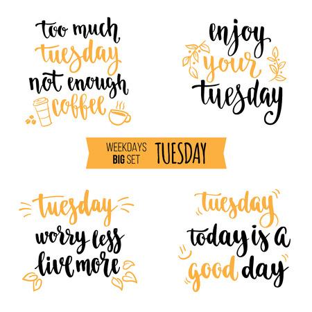 Weekdays motivation quotes Иллюстрация