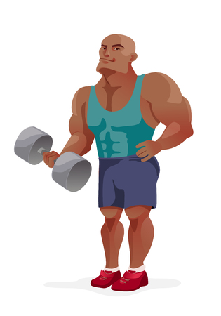 Cartoon bodybuilder.
