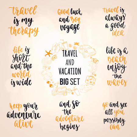 Travel and vacation phrase