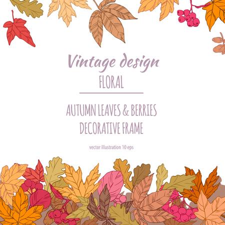 Autumnal decorative floral plant botany elements
