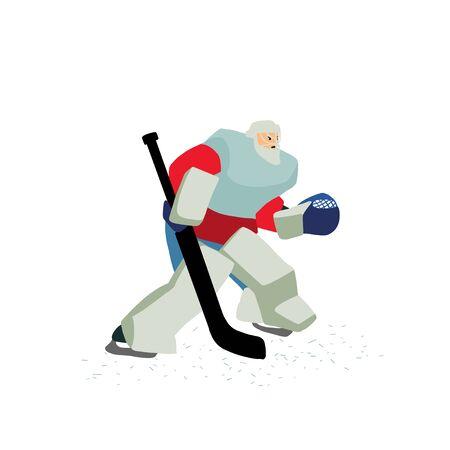 Ice hockey vector colorful hand drawn illustration.