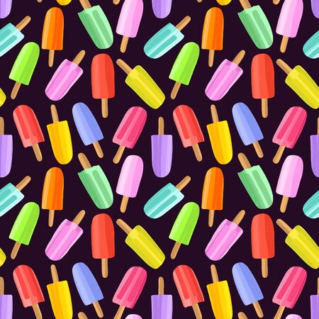 Hand drawn colorful  seamless pattern background. Illustration