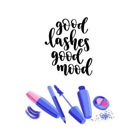 Modern calligraphy style makeup phrase. Handwritten brush lettering.