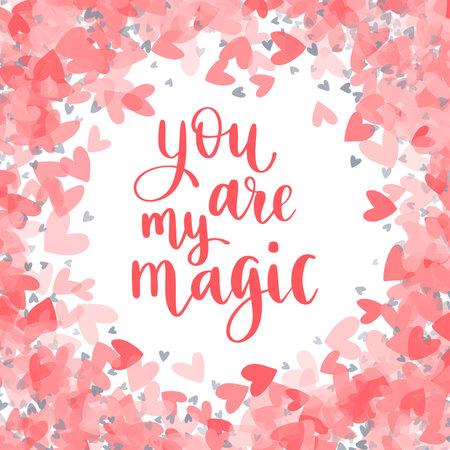 Happy Valentines Day. Modern style calligraphy phrase. 向量圖像