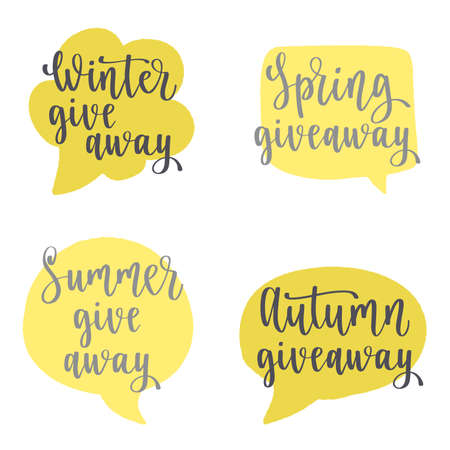 Seasonal Giveaway. Hand drawn lettering for promotion. Ilustrace