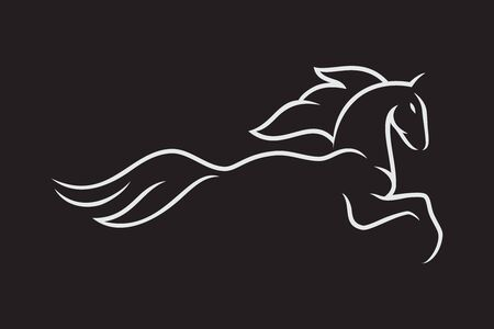 Simple and elegance horse symbol in flat style for element design. Simple horse vector for your best business symbol. Vector illustration